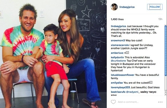 curtis stone and lindsay price throw a party for their sons first birthday_everyone wore tie dye