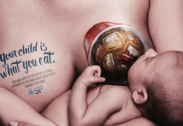 The ads that want to make mums think before they eat_coke