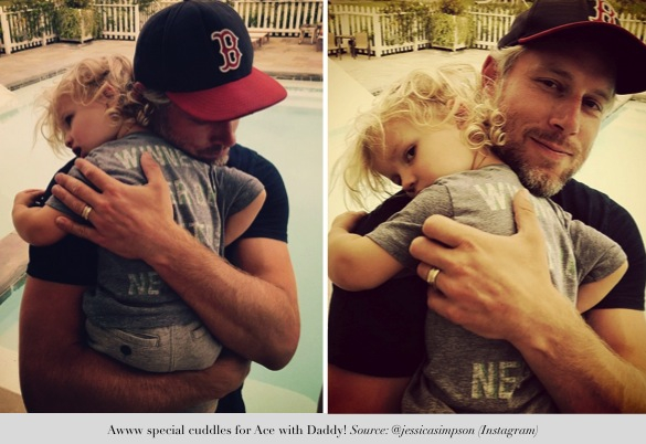 jessica simpson shares precious moments_daddy eric and ace