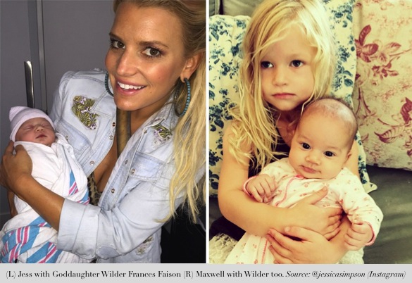 jessica simpson shares precious moments_jessica and maxwell with god daughter wilder