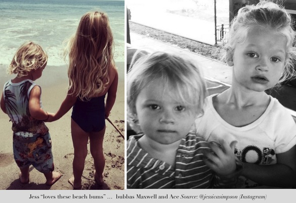 jessica simpson shares precious moments_maxwell and ace