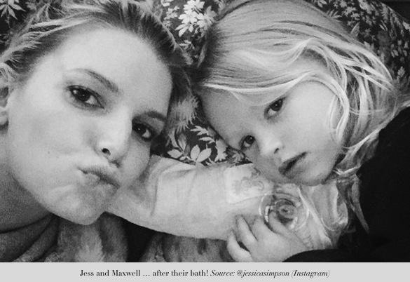 jessica simpson shares precious moments_mummy and daughter after the bath