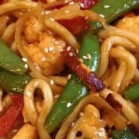 Quick veggie stir fry noodle