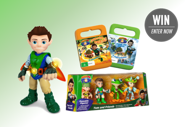 WIN 1 of 5 'Tree Fu Tom' toy and DVD prize packs
