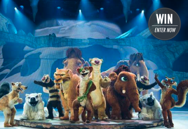 WIN 1 of 4 family passes to see Ice Age Live