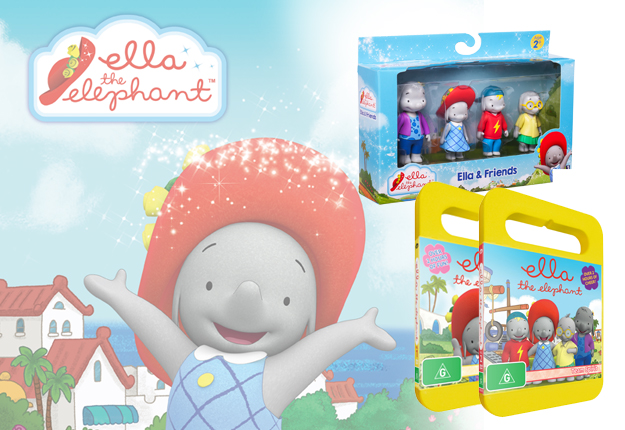 Win 1 of 10 Ella The Elephant toy and DVD packs