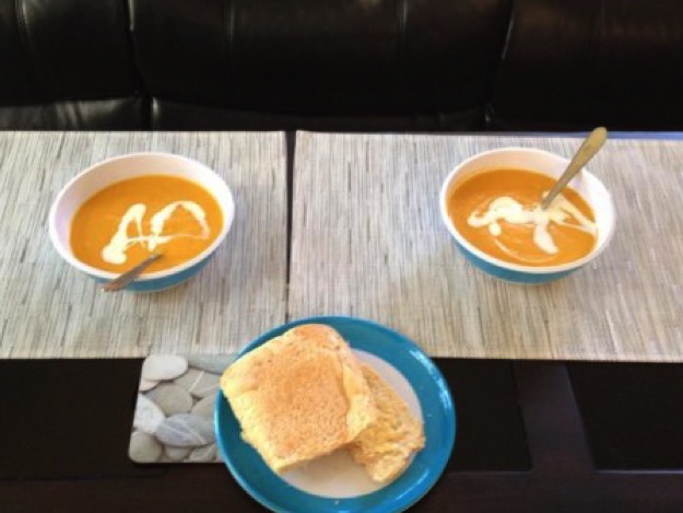 Pumpkin and veggie soup