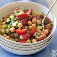 Lentil and chickpea chermoula salad