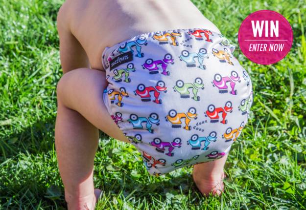 WIN 1 of 4 cloth nappy packs from Snazzipants
