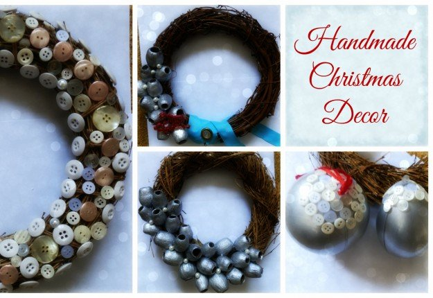 DIY Christmas wreaths and baubles