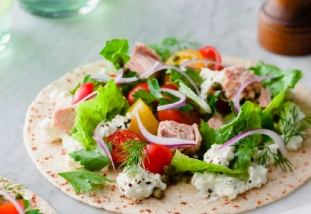 Zingy tuna salad wrap
