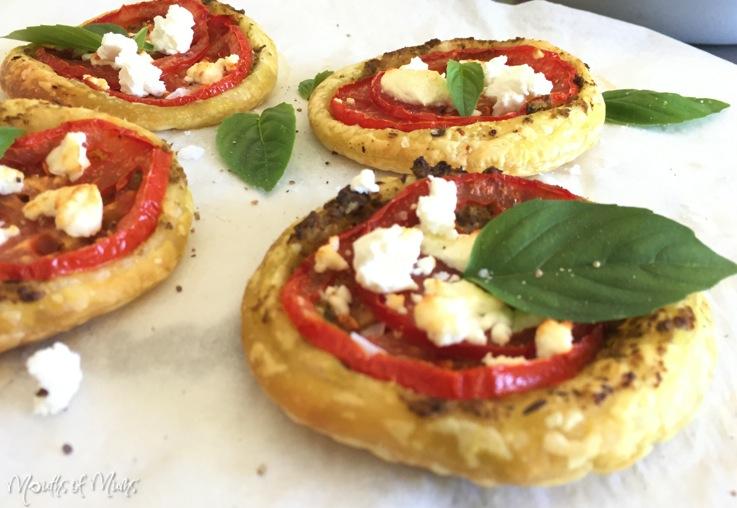 Tomato and Pesto Pastry Rounds