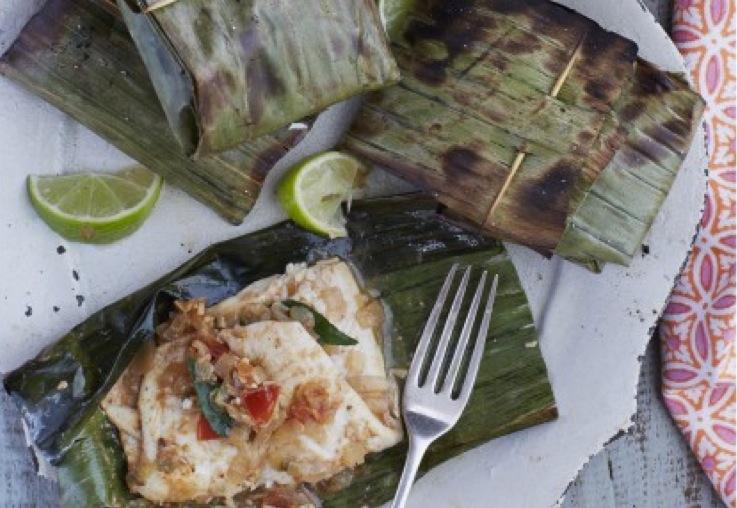 Keralan Banana Leaf Grilled Fish