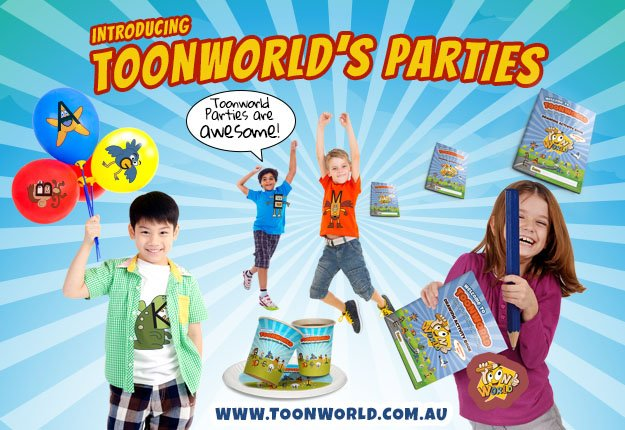 WIN a children's party pack for ten kids valued at $500 with Toonworld