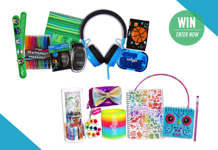 WIN a holiday fun prize pack from Smiggle