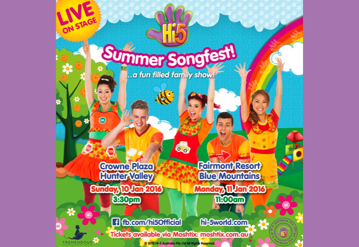 WIN a VIP Hi-5 Summer Songfest Prize Pack