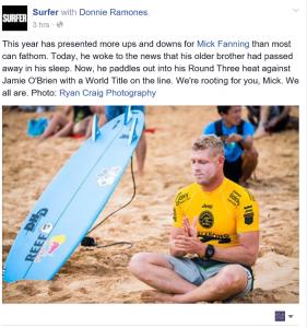 Mick Fanning Surfer Magazine FB post