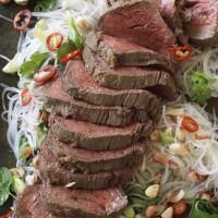 Asian marinated roast beef fillet