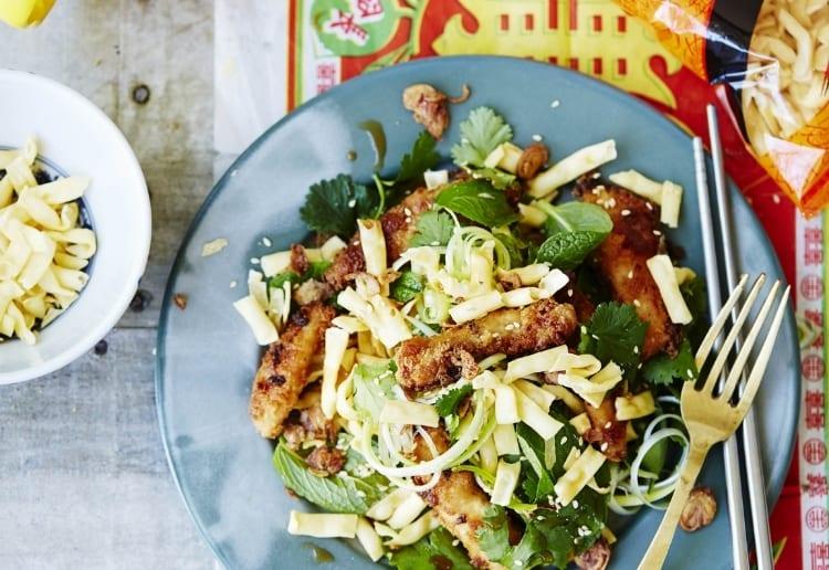 Crunchy Noodle Salad with Sesame-Miso Glazed Chicken