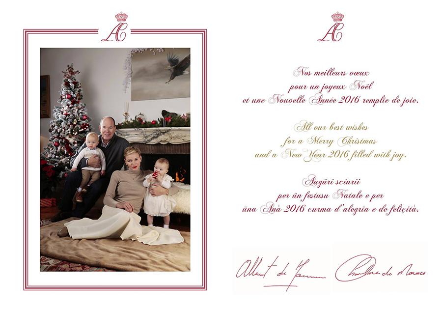 Monaco Royal Family Christmas Card