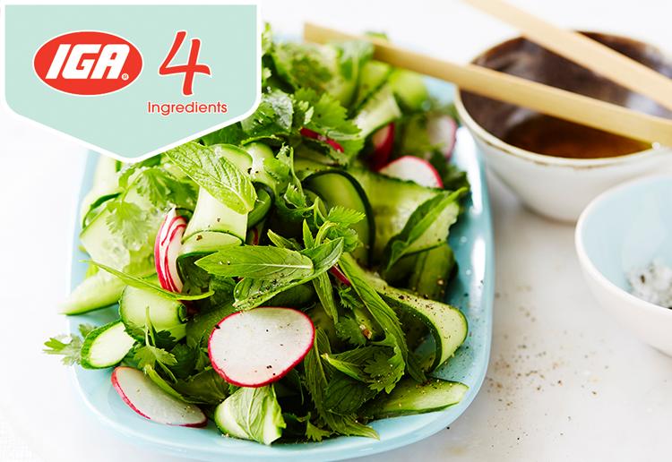 Mint, Coriander & Cucumber Salad
