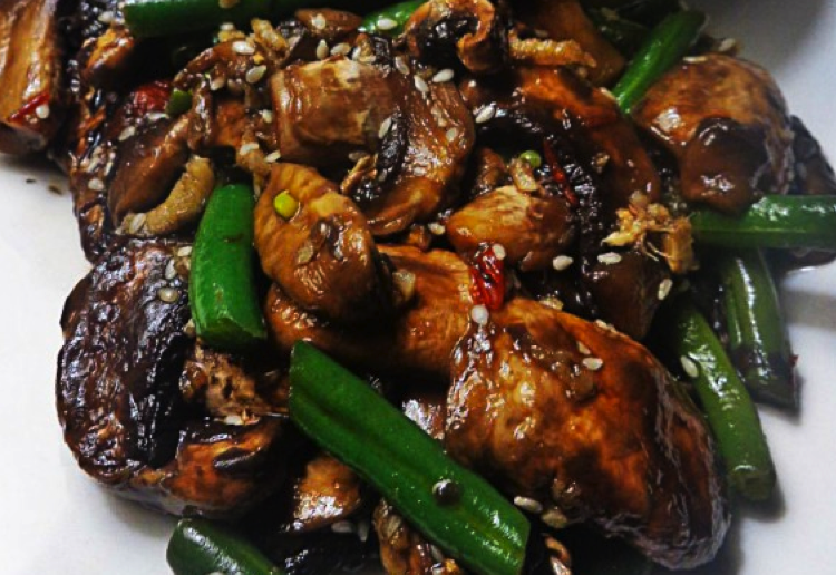 Chinese Mushrooms & Beans