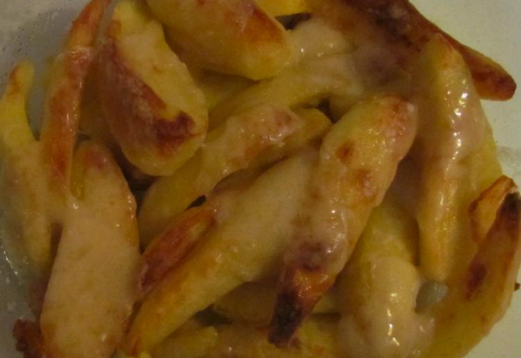 Garlic and cheese kipfler potatoes