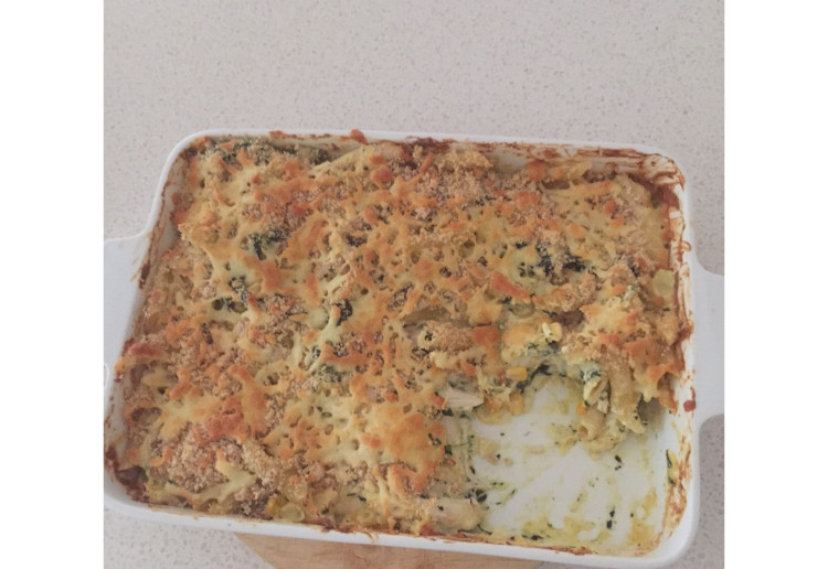 Day before pay day pasta bake