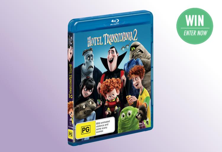 WIN 1 of 5 copies of Hotel Transylvania 2 on DVD!