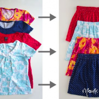 Make a new skirt out of an old t-shirt – in 10 minutes!