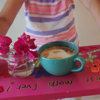 Easy DIY serving tray gift for Mother's Day