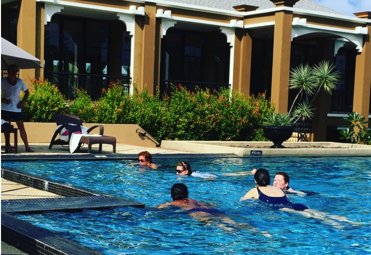 5 very different women 1 thing in common_absolute sanctuary_water aerobics