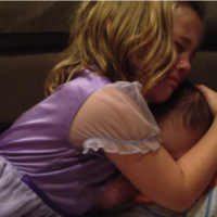CUTE VIDEO: Sadie doesn't want her brother to grow up