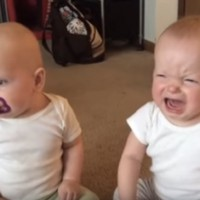 FUNNY VIDEO: Twin Baby Girls Fight Over Pacifier!