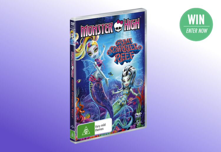 WIN 1 of 20 copies of Monster High: Great Scarrier Reef on DVD!