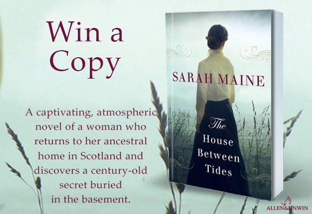 A review for WIN 1 of 20 copies of The House Between Tides by Sarah Maine