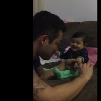 CUTE VIDEO: Baby Fakes Crying When Daddy Tries To Cut Her Fingernails