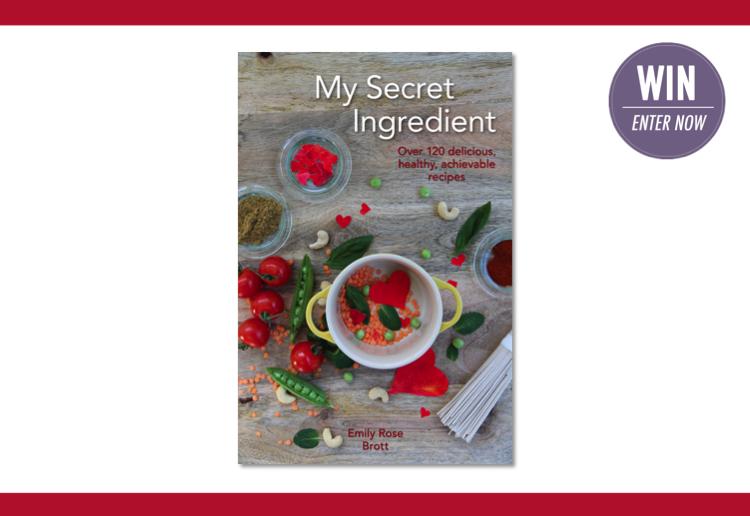 WIN 1 of 25 copies of 'My Secret Ingredient' cookbook