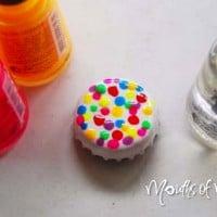 Easy DIY bottle cap magnets