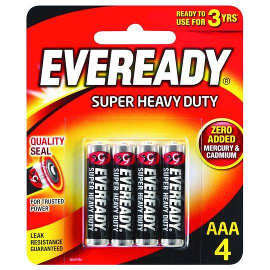 natct reviewed Eveready Super Heavy Duty Aaa Batteries