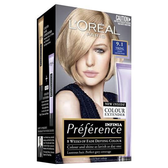 L'oreal Preference 9.1 Viking Light Ash Blonde