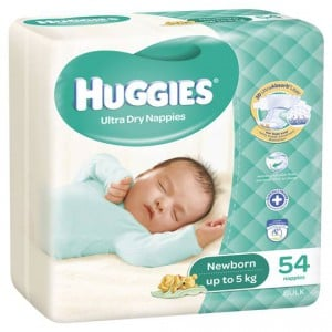 Huggies Ultra Dry Nappies Newborn Up To 5kg Bulk