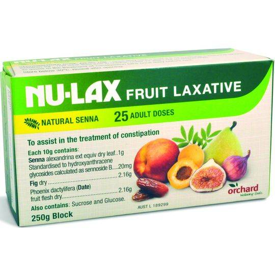Nu-lax Laxatives Natural Fruit