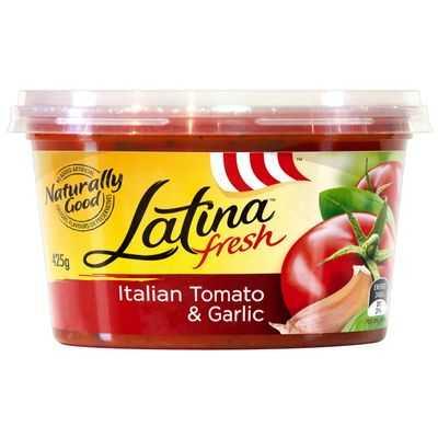 Latina Fresh Pasta Sauce Italian Tomato & Garlic