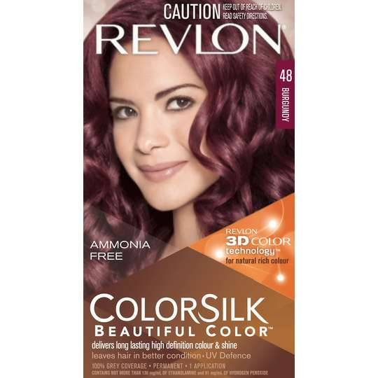 Revlon Colour Silk Hair Colour 4.8 Burgundy