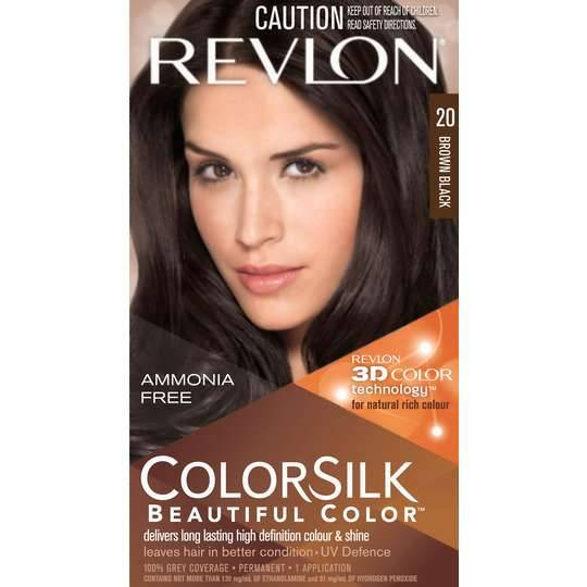 Revlon Colour Silk Hair Colour 20 Brown Black