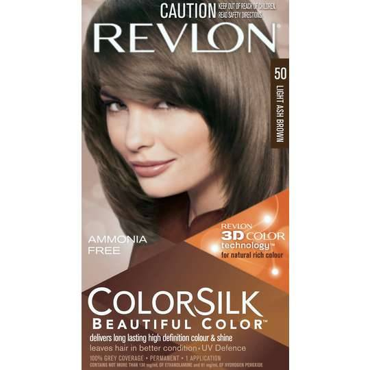 Revlon Colour Silk Hair Colour 50 Light Ash Brown