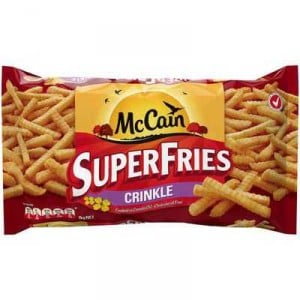 Mccain Crinkle Cut Superfries Canola