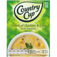 Country Cup Instant Soup Cream Chicken & Corn Croutons