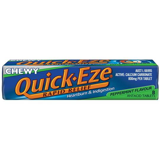 Quick Eze Antacids Peppermint Chewy